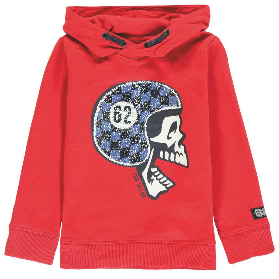 TOM TAILOR Boys Sweatshirt mit Kapuze, rot