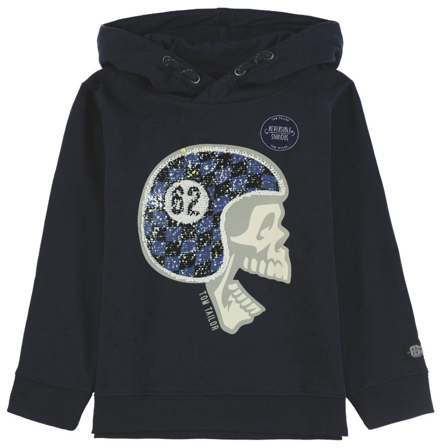 TOM TAILOR Boys Sweatshirt mit Kapuze, blau