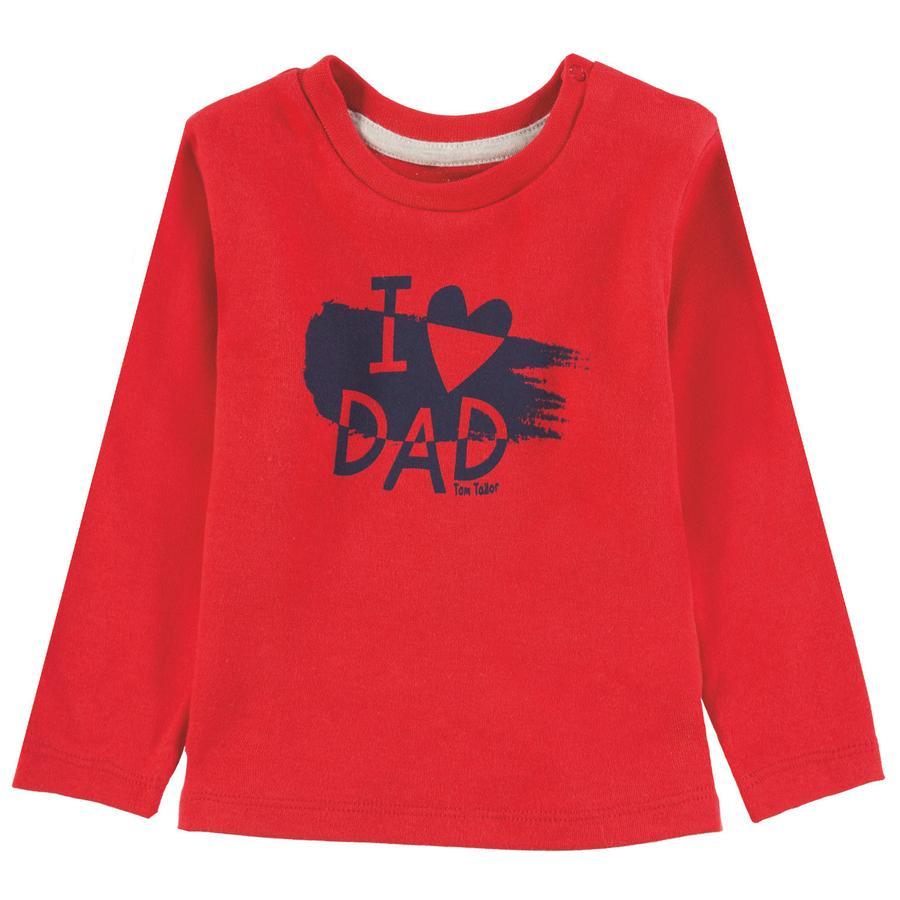 TOM TAILOR T-skjorte for gutter, rød