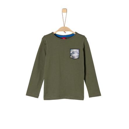 s.Oliver Boys Shirt met lange mouwen khaki