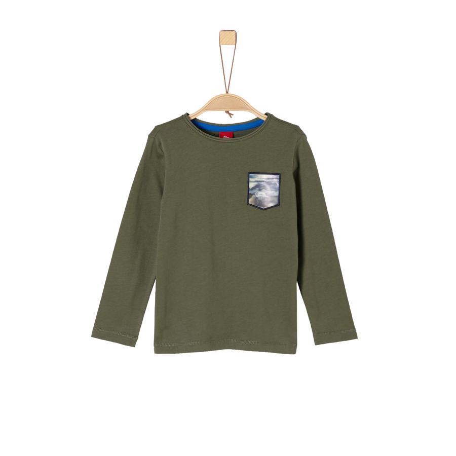 s.Oliver Boys Langarmshirt khaki