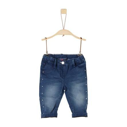 s.Oliver Girls Jeans dark blue denim stretch