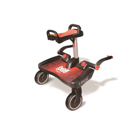 Lascal Buggy Board Maxi+ met zitje, rood