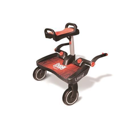 Lascal Buggy Board Maxi + nero con seduta rosso
