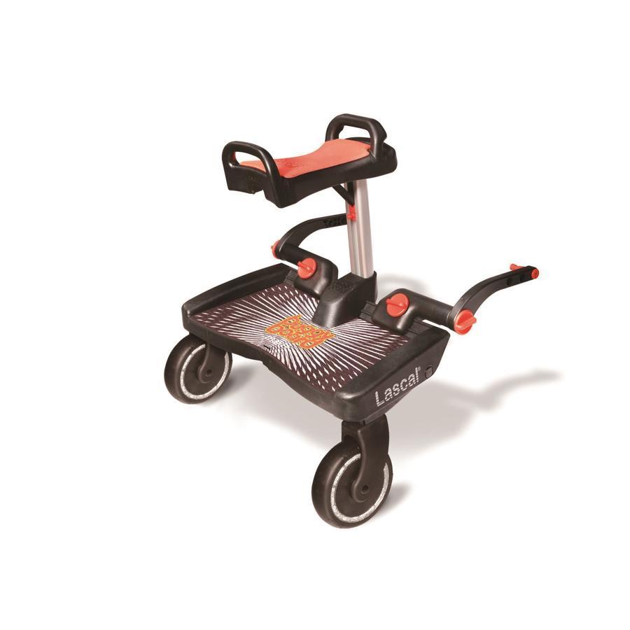 Lascal Planche à roulettes poussette Buggy Board Maxi Plus siège noir/rouge