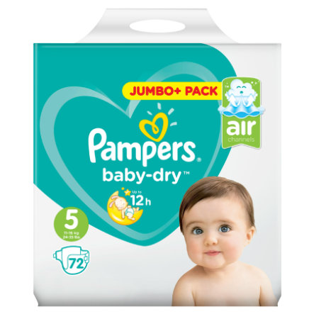 Pampers Windeln Baby Dry Junior Gr. 5 Jumbo Pack 11-16kg 72 Stück