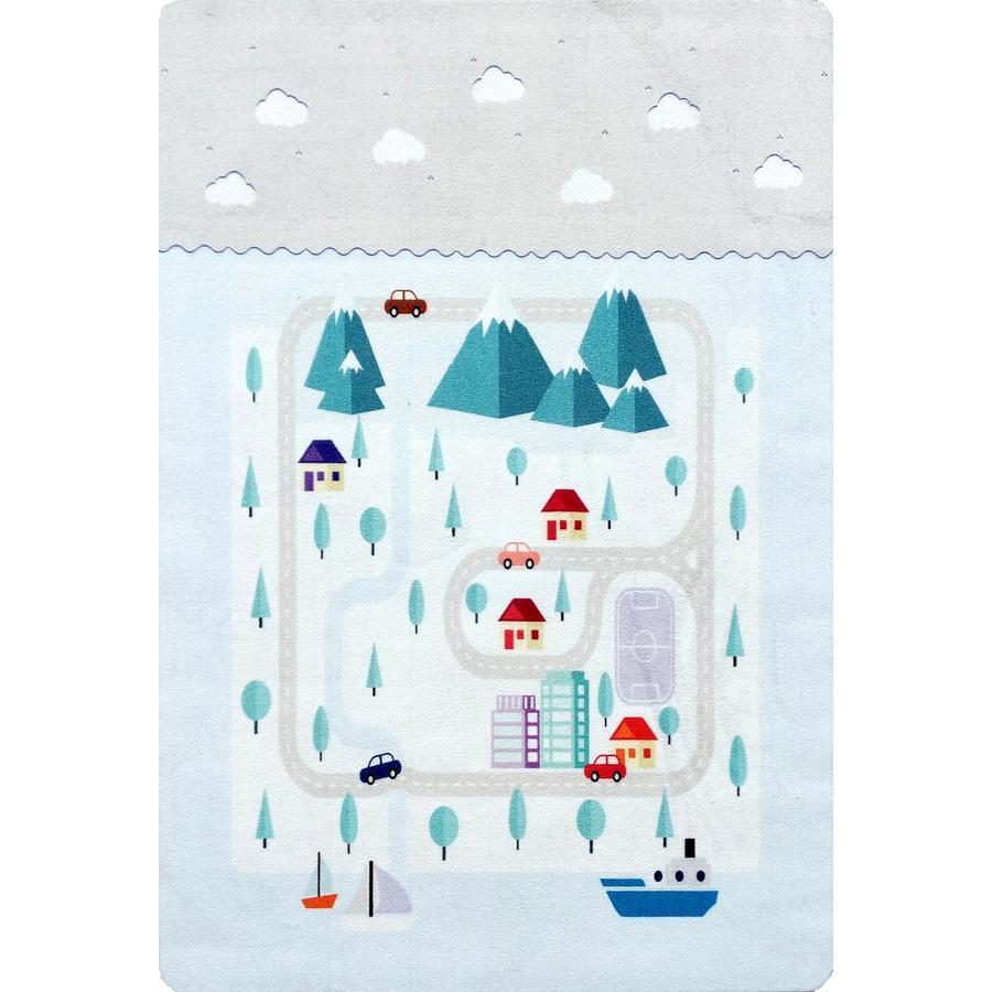LIVONE Happy Tappeto da gioco e per bambini Tappeti Playlove Mountain, 90 x 130 cm