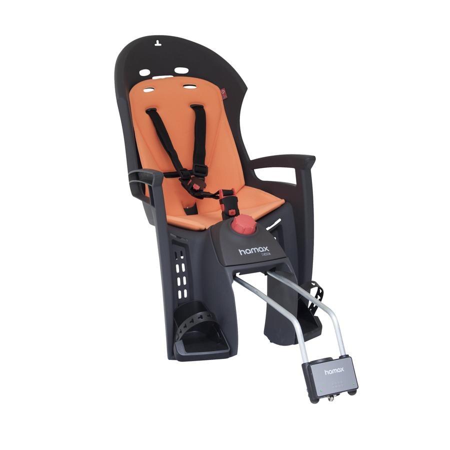 hamax Silla para bicicleta Siesta Gris/Naranja