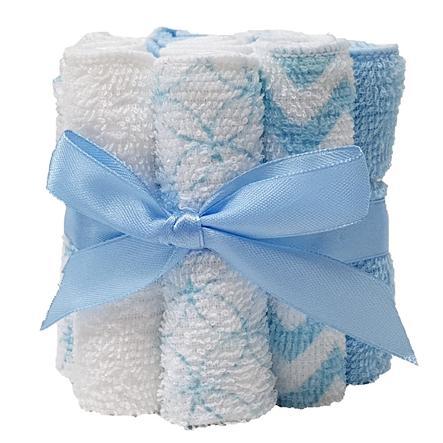 HÜTTE & CO Waschtücher 12er-Pack blau