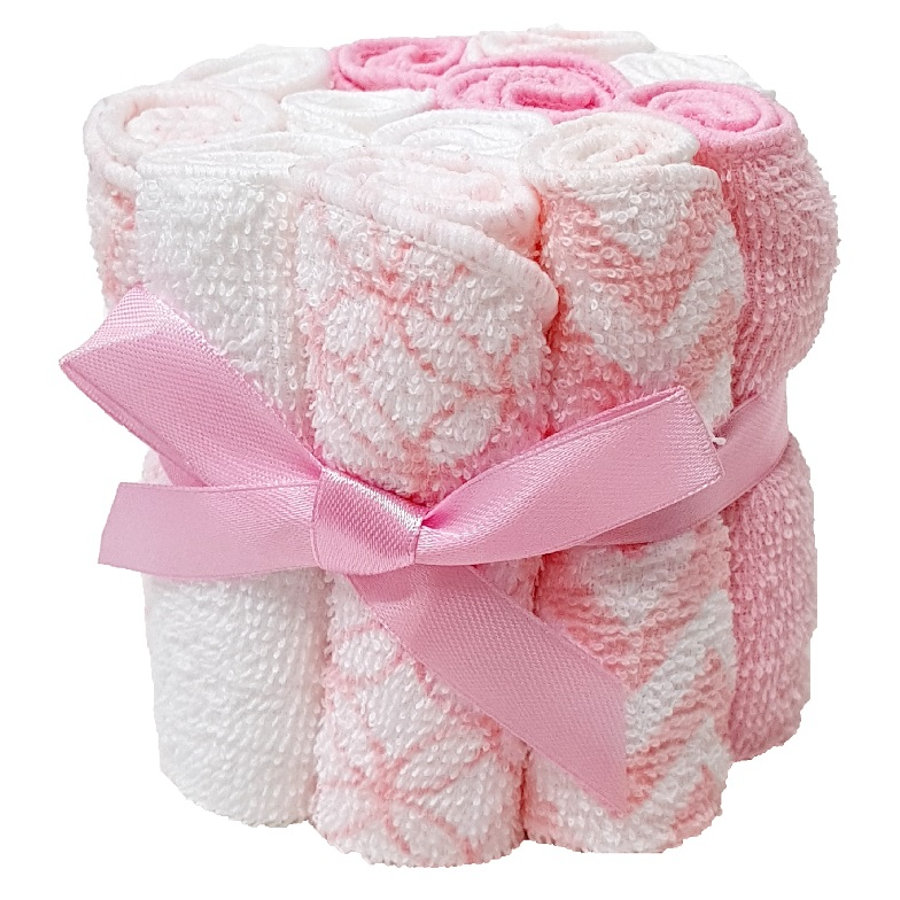 HÜTTE &   CO-vaskekluter 12-pack rosa