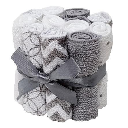HÜTTE & CO Waschtücher 12er-Pack grau