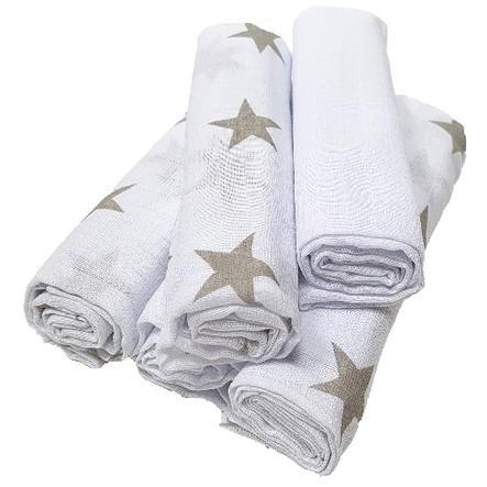 HÜTTE & CO Lange enfant étoiles gris lot de 5