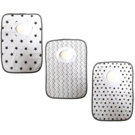 HAT & CO Bib 3-packové hvězdy / hroty / hroty