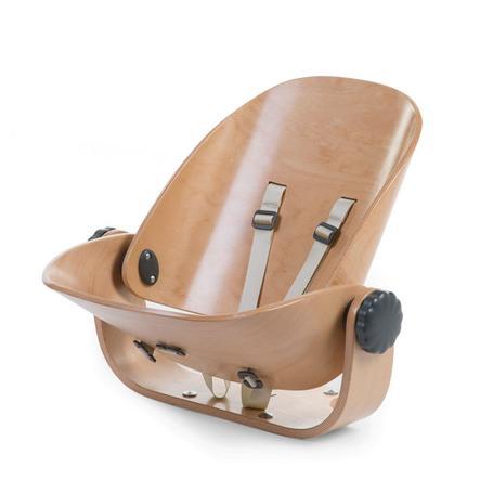 CHILDHOME Transat nouveau-né chaise haute Evolu bois naturel/gris