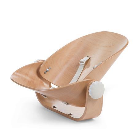 CHILDHOME Transat nouveau-né chaise haute Evolu bois naturel/blanc