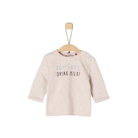 s.Oliver Boys Langarmshirt beige melange