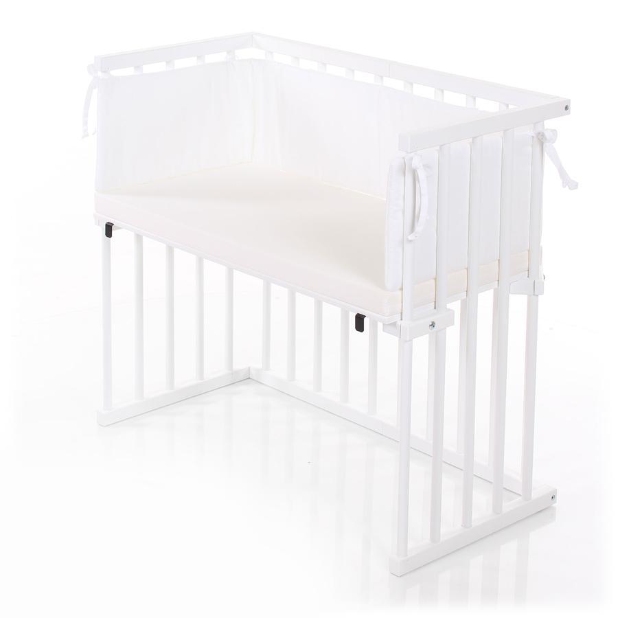dreamgood Sideseng hvid inkl. madras prime air og babyrede hvid