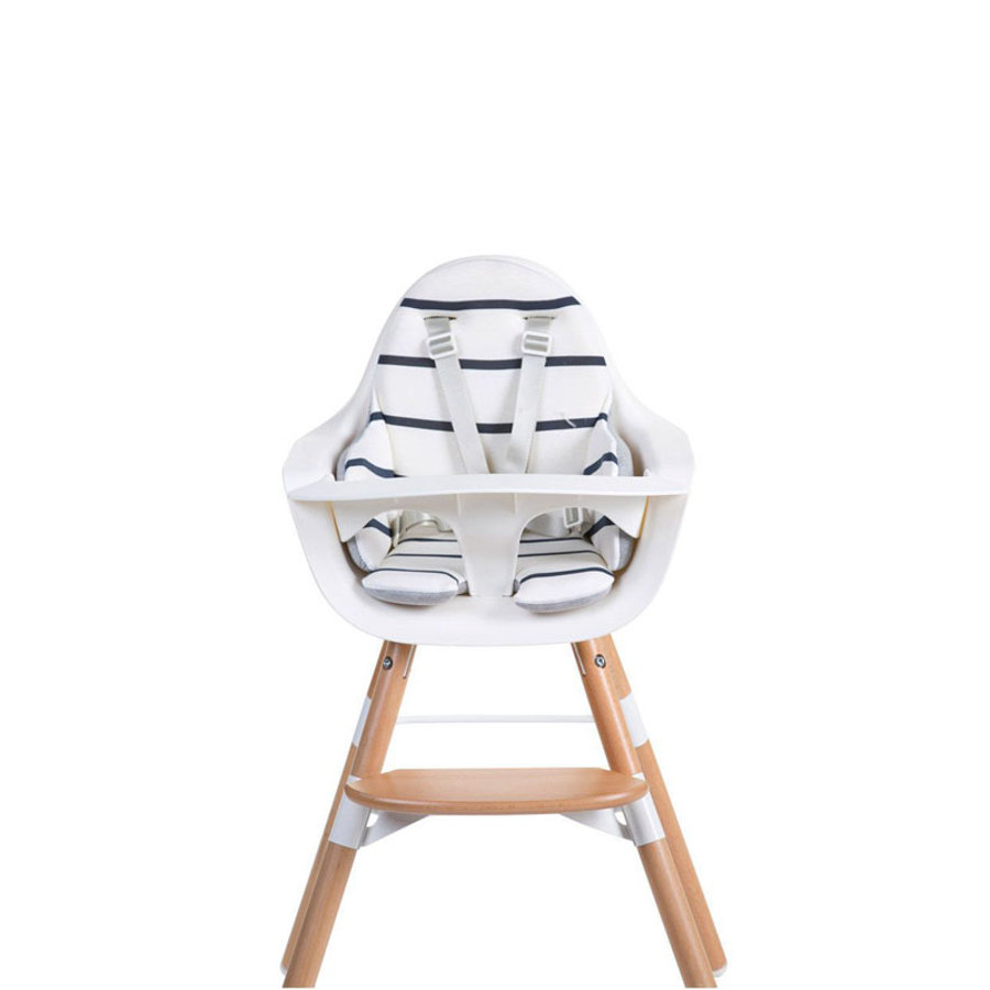 CHILDHOME Coussin d'assise chaise haute Evolu marin blanc