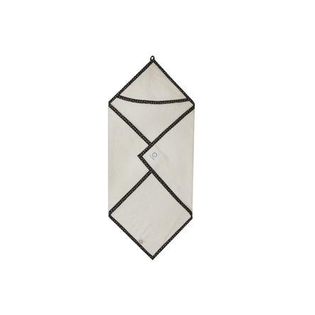 ZELLMOPS Serviette de bain capuche ancre 60 x 60 cm blanche
