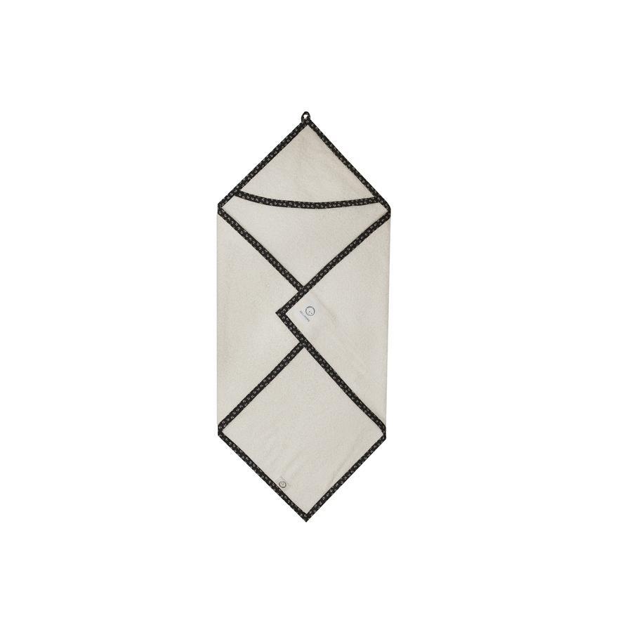 ZELLMOPS Serviette de bain capuche ancre 90 x 90 cm blanche