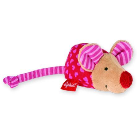 SIGIKID Baby.basics Greifling Maus mit Rassel, pink