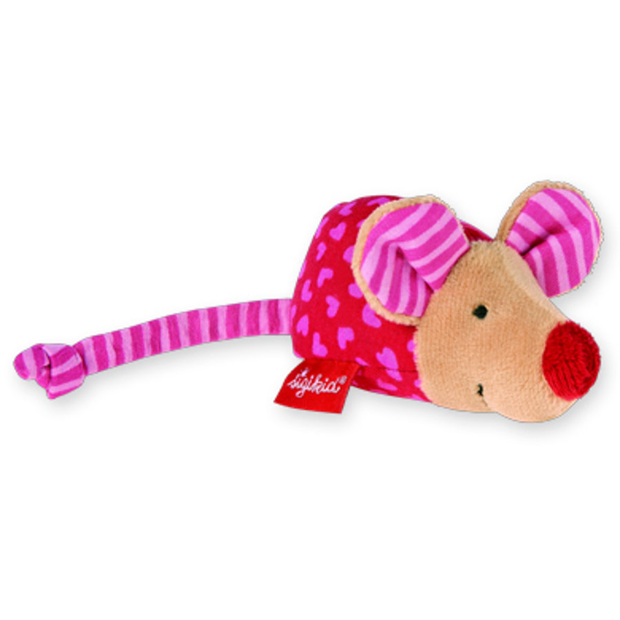 SIGIKID Baby Basics Greppleksak - Mus med skallra rosa