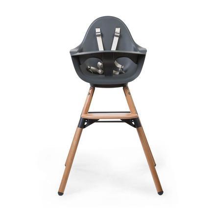 CHILDHOME Kinderstoel Evolu ONE.80° natuur / grijs 2 in 1 + Ring