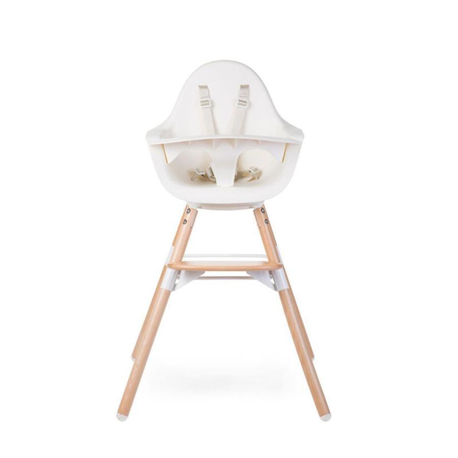 CHILDHOME Kinderstoel Evolu ONE.80° natuur / wit 2 in 1 + Ring