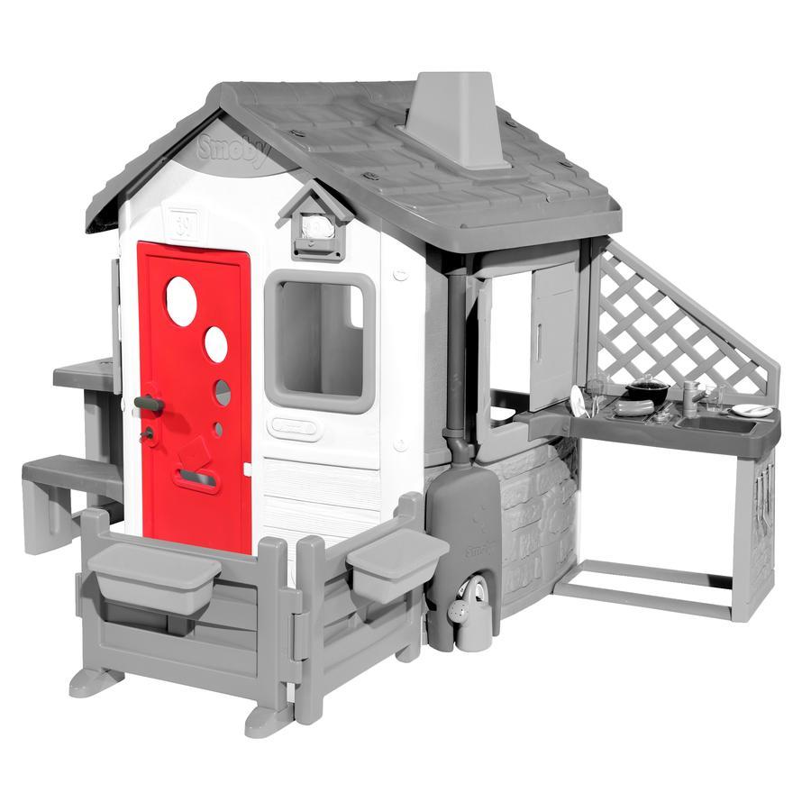 Smoby Porte pour maison cabane de jardin enfant Neo Jura Lodge rouge