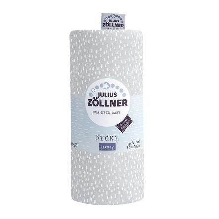 JULIUS ZÖLLNER Jerseydecke Tiny Squares Grey 70 x 100 cm gefüttert