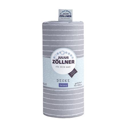 JULIUS ZÖLLNER Jerseyfilt Grey Stripes 70 x 100 cm
