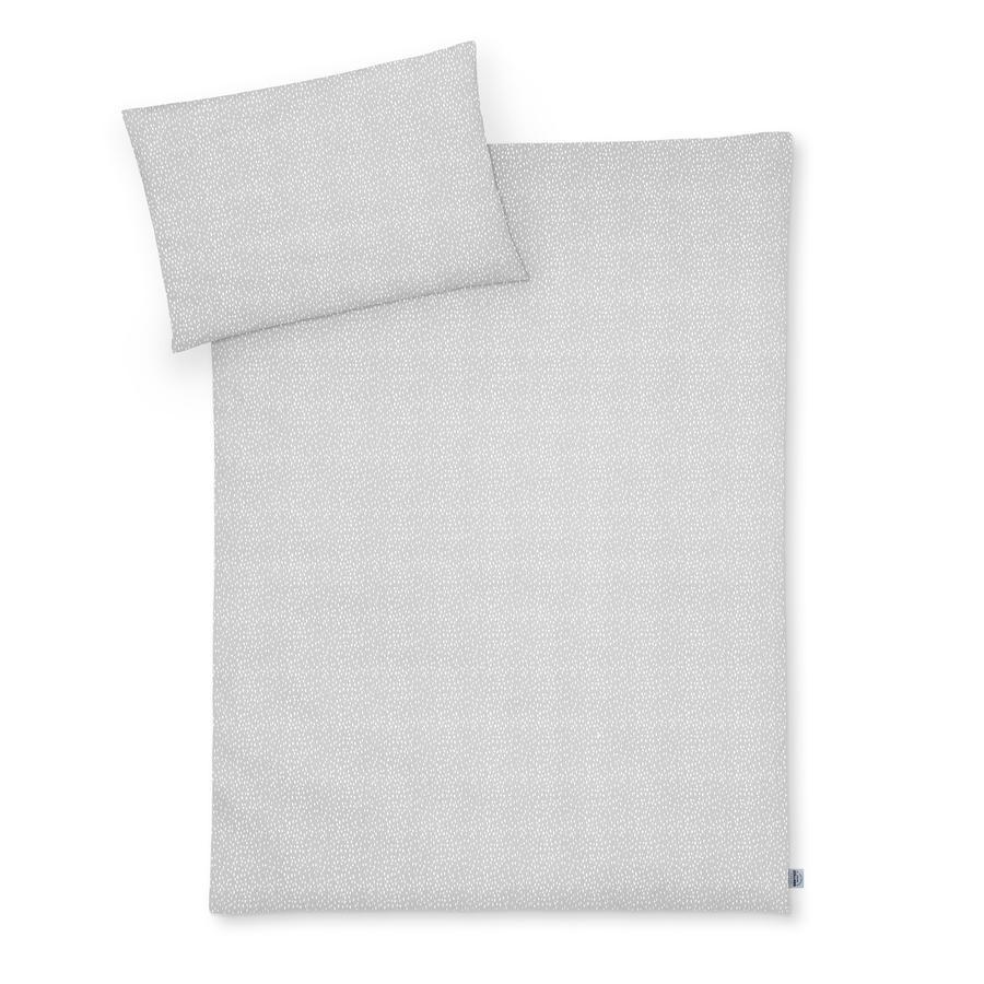 JULIUS ZÖLLNER Bettwäsche Tiny Squares Grey 100 x 135 cm