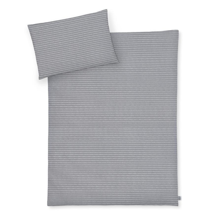 JULIUS ZÖLLNER Bettwäsche Grey Stripes 100 x 135 cm