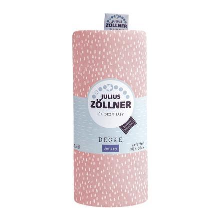 JULIUS ZÖLLNER Jerseydecke Tiny Squares Blush 70 x 100 cm gefüttert