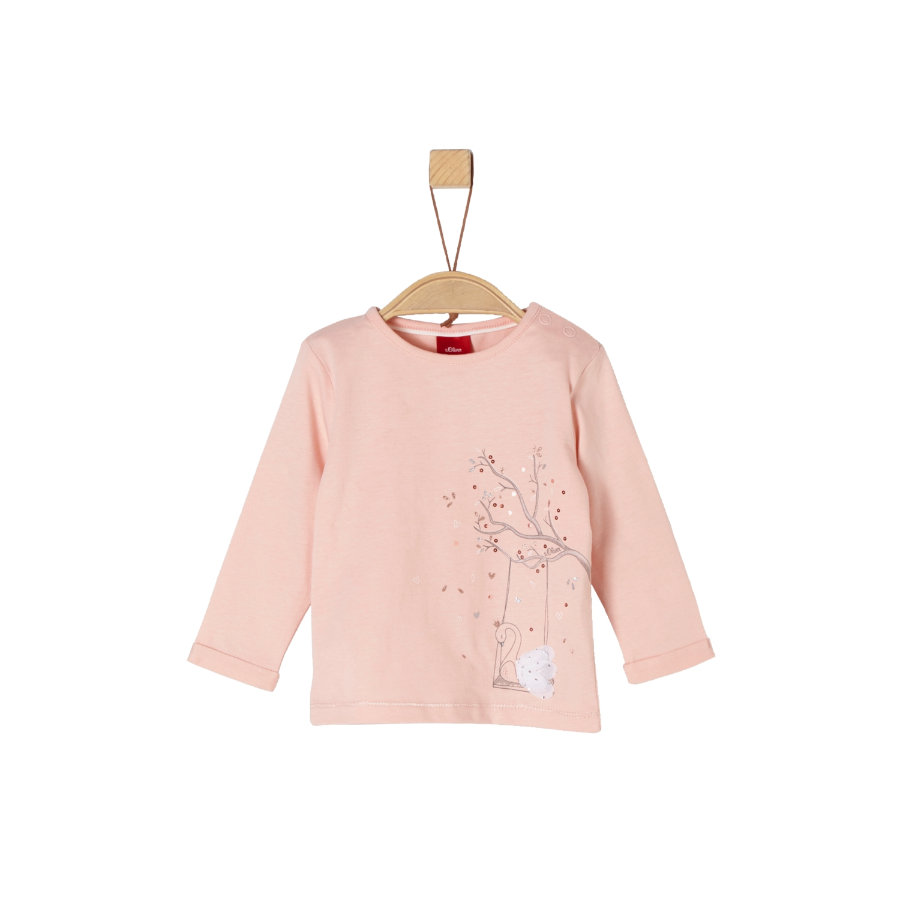 s.Oliver Girls Langarmshirt pink swing swan
