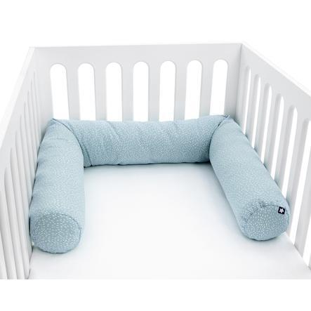 JULIUS ZÖLLNER Tour de lit enfant traversin tiny squares vert 180 cm