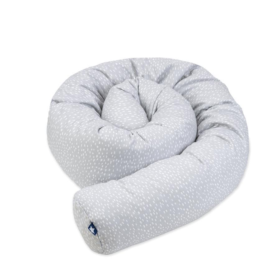 JULIUS ZÖLLNER Tour de lit enfant traversin tiny squares gris 180 cm