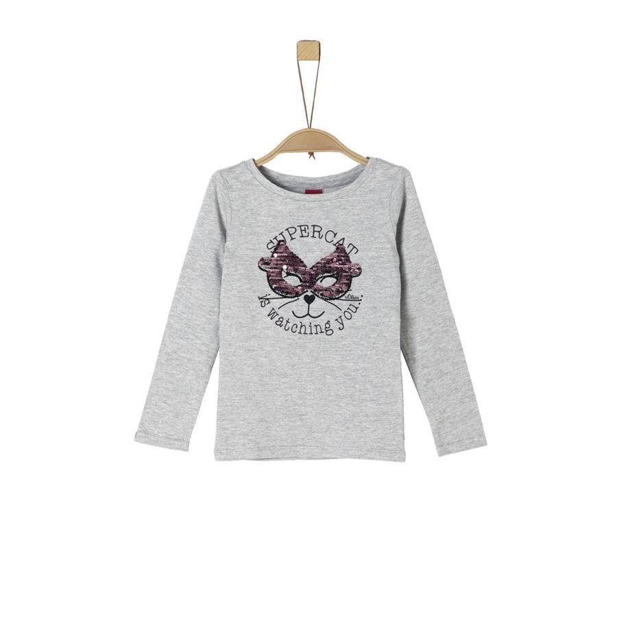 s.Oliver Girl s chemise manches longues gris mélangé