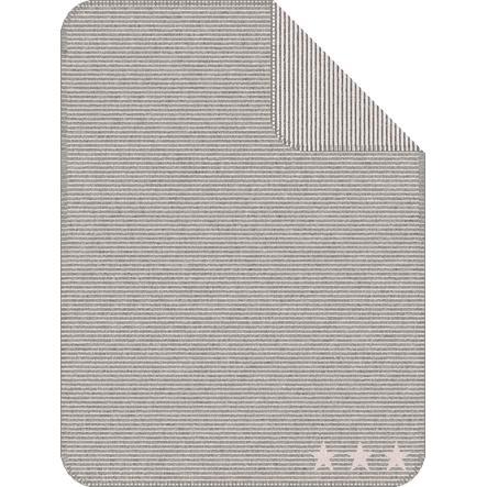 IBENA Jacquarddecke Lelu Streifen, 75x100 cm, grau/rosa