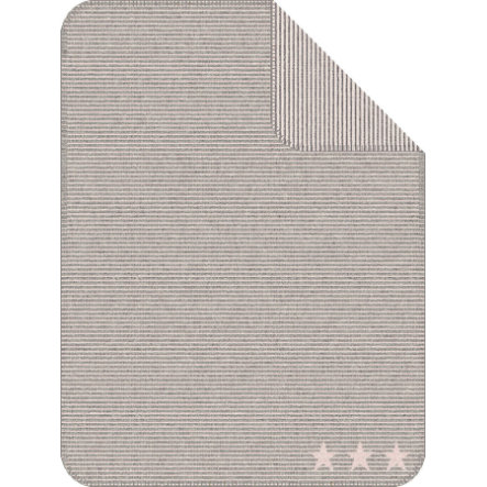 IBENA Jacquarddeken Lelu-strepen, 75x100 cm, grijs/roze