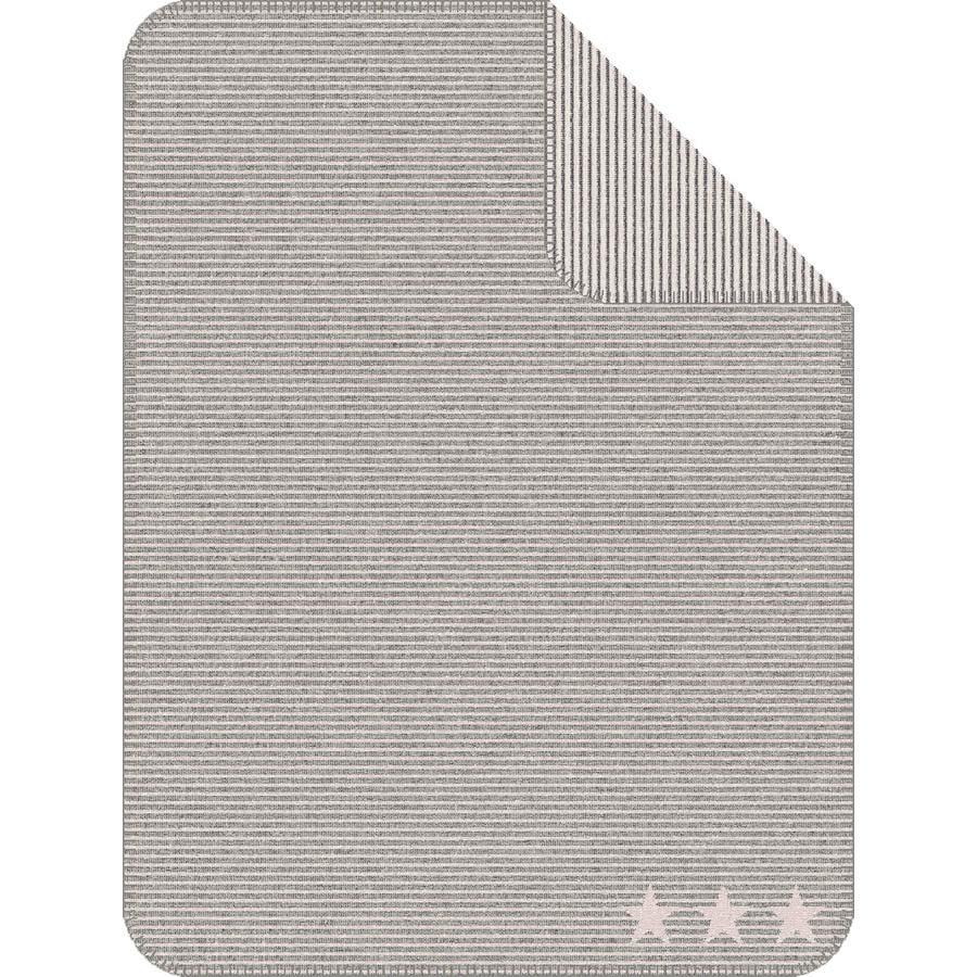 IBENA Jacquard teppe Lelu Striper, 75x100 cm, grå/rosa