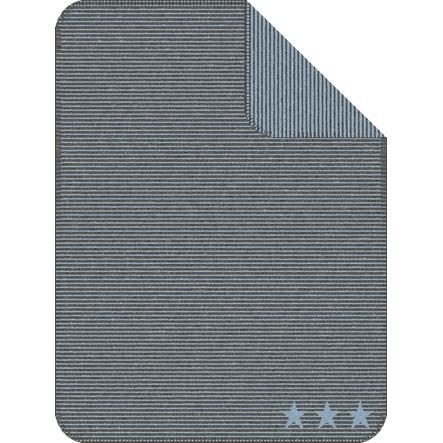 IBENA Jacquarddecke Lelu Streifen, 75x100 cm, anthrazit/hellblau