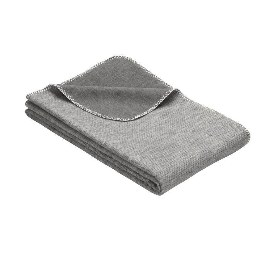 IBENA Couverture bébé Jacquard Lausanne 70x100 cm gris