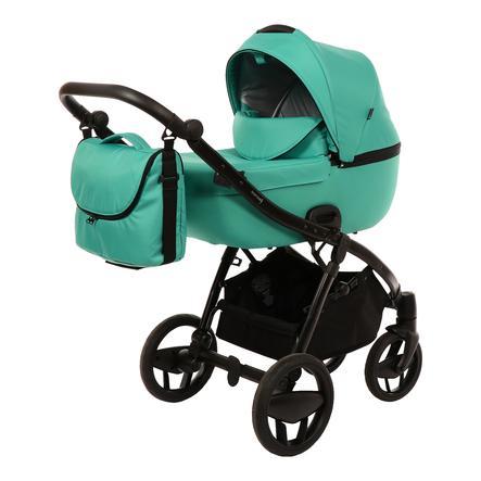 knorr-baby Cochecito combinado Piquetto Uni verde esmeralda