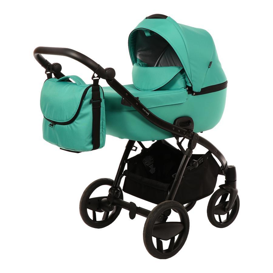 knorr-baby Kombikinderwagen Piquetto Uni Smaragd-Grün