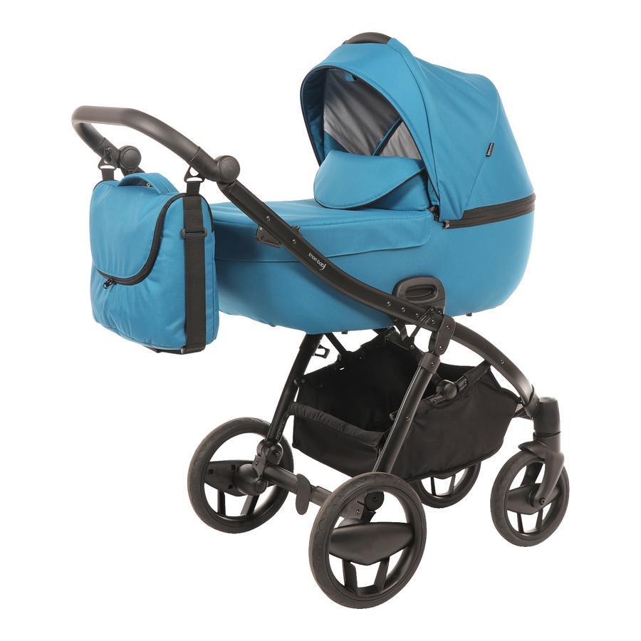 knorr-baby Combi kinderwagen Piquetto Uni petrol