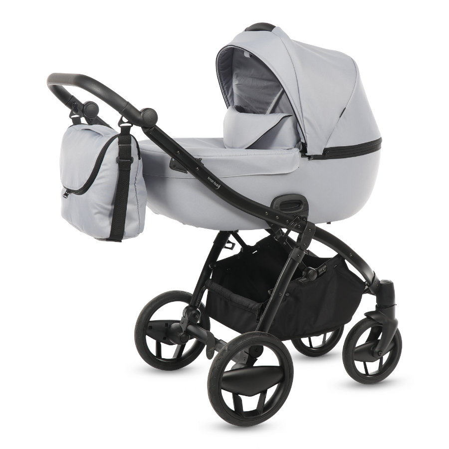 knorr-baby Kombikinderwagen Piquetto Uni grau-hellgrau