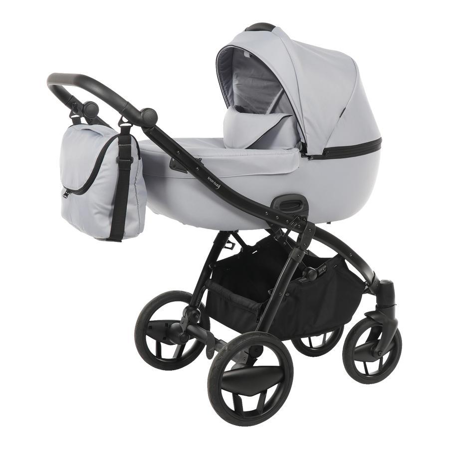 knorr-baby Kombivogn Piquetto Uni grå-lysegrå