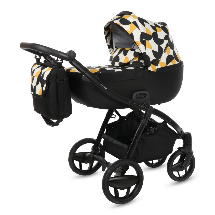 knorr-baby Kombivogn Piquetto Limited Edition graphic/sort-gul