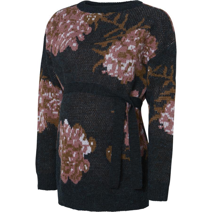 mamalicious  Sweter dla kobiet w ciąży MLVICTORIA Dark Grey Melange